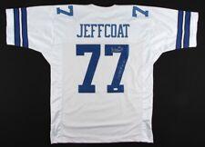 Jim Jeffcoat Signed Cowboys Throwback Jersey Inscribed