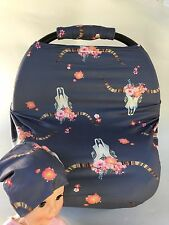 Stretchy Car Seat Canopy Multi Use Cover Baby Beanie Carrying nursing cover NEW!