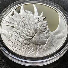 Anne Stokes Dragons Friend or Foe 1 oz .999 Silver Proof Hot Girl Dragon Round