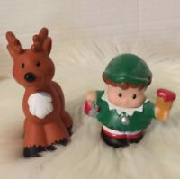 Fisher Price Little People Christmas Reindeer And Elf