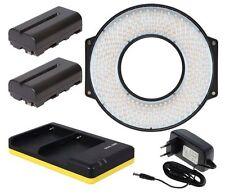 F&V hdr-300s SE LED Ringlight Bi-Color + Power Supply 2x NP-F Batteries Dual