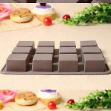 Chocolate 12 Bars Slab Silicone Mould Sugar Cake Candy Baking Mould Fondant Ice