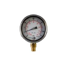 Heavy Duty 100mm Liquid Filled Pressure Gauge 0-100kpa (14.5psi)