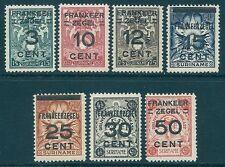 SURINAM  1927  NVPH 130/136, Sc. 132/138  MNH
