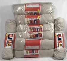 Lot 8 x 4 oz = 32 oz Ivory Fisherman 100% Creslan Acrylic yarn
