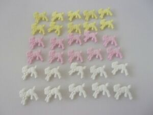 10 Lamb Sheep Novelty Baby Buttons Craft Sewing Choice Of Pink White Lemon