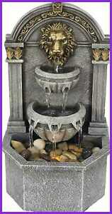 Warm Garden Lion's Head Fountain Relaxation For Interior Decoration Indoor Table