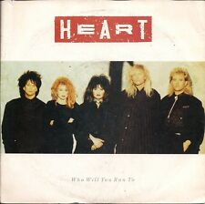 "Heart Who Will You Run To UK 45 7"" single +Picture Sleeve +Nobody Home"