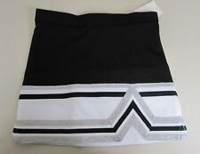 Real Chasse Cheer Youth & Adult Cheerleading Uniform Skirt Black White Silver