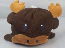 NWT GYMBOREE HOLIDAY SHOP Moose REINDEER Fleece Beanie Hat Size 6-12 months