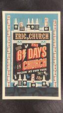 Eric Church concert poster 61 Days In Church 2017 Tour print ( 12in x 18in )
