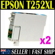 2x Cyan T252XL T252 Compatible Ink for Expression Workforce WF3620 3640 7610