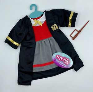 """My Life As Doll Wizard & Wand Uniform Halloween Costume Outfit for 18"""" Dolls"""