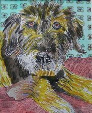Chewy a Mixed Breed Rescue Dog! Sticker 4 x 6 inch $ for future dog charity.