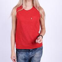Levi's Ärmellos Damen rot Shirt Größe XS