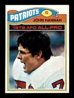 1977 Topps #460 John Hannah NM/NM+ Patriots 505455