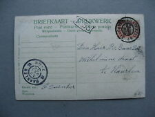 NETHERLANDS, PPC (card Arnhem), canc Oosterend(Texel) 1908
