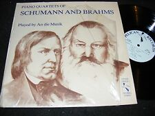 Piano Quartets of SCHUMANN and BRAHMS An Die Musik PELICAN Small Label LP 1981