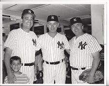 Mike Torrez & Son Gene Michaels and ? Vintage New York Yankee Photo