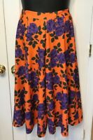 Asos High Rise  Floral Culottes Wide Leg Cropped Pants USA Size 12 NWT