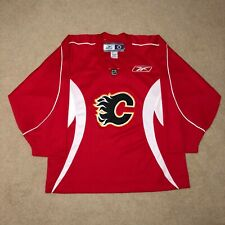 Calgary Flames Reebok Practice Hockey Jersey NHL Red Like New Large