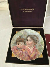 """Royal Doulton Collectors Plate 1974 """"Sayuri & Child"""" Mint In Box With Paperwork"""