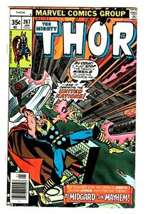 """THOR #267 (FN-) LOKI & ODIN Appearance! """"Once More, To Midgard!' Marvel 1978"""