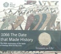 2016 Royal Mint Battle of Hastings 50p Fifty Pence Coin Pack Uncirculated