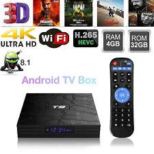 T9 Android 8.1 Tv Box Rk3328 Quad Core 4Gb/32Gb 4K H.265 WiFi Bt4.0 Media Player