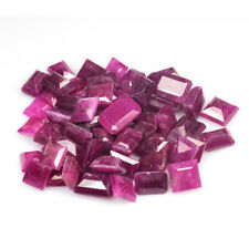 66.870 Cts JEWELRY SETTING SIZE GEM! PINK RED NATURAL RUBY SQUARE LOT GEMSTONES