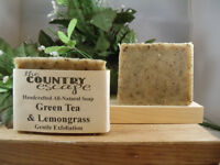 Green Tea & Lemongrass Soap- Handcrafted - Organic - Vegan - Natural - Homemade