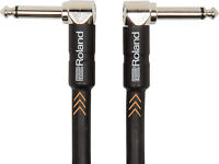 Roland RIC-B3AA Instrument Cable, Black Series - 1m - 2 x Angle Jack (6,3mm)