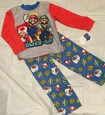 Nintendo 's SUPER MARIO Flannel Pajamas Boys Size 4 6 8 10 Luigi Toad