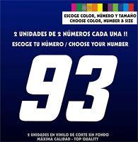 2X Sticker Vinilo - Escoge color, tamaño y número - Pegatina -Vinyl- Coche-Moto