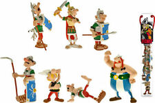 Tube 7 Figures Asterix, Obelix and the Romans in Battle Plastoy Official New