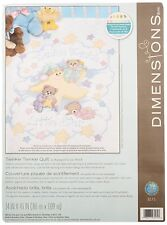 Cross Stitch KIT STAMPED Baby Quilt DIMENSIONS Twinkle Twinkle w/Threads 34x43