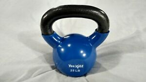 25lb Kettlebell 25 Pounds Weight Cast Iron/ Vynle Yes 4 All VGC