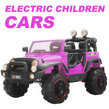 12V Kids Ride on Cars Electric Battery Power Wheels Remote Control 2 Speed Pink