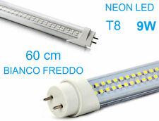 Tubo Neon a LED.60cm 9W T8.Luce bianca fredda.Bianco freddo,60, T 8.Risparmio 9w