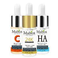 Mabox Face Retinol Serum+Six Peptides Serum Facial 24K Gold+Hyaluronic Acid