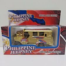 Philippine Jeepney Special Gold Edition Diecast Bus Pull Back & Go Toy Sealed Bx