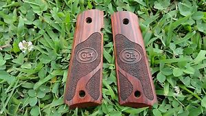 Colt GOVT 1911 Grips Checkered Rosewood with Colt Logo -USA priority freeship AA