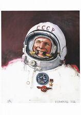 Postkarte: Kosmonaut Juri Gagarin - Ölgemälde von Josef Schützenhöfer