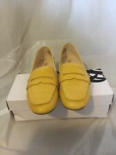 NINE WEST Yellow Linear Loafer Shoes Flats Moccasins Women's (7)