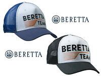 "Beretta ""Team Beretta"" Baseball Trucker Cap Shooting Hat Blue or Black BT051"