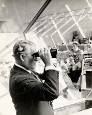 Wernher von Braun Watching Apollo 11 Abheben 11x14 Silber Halogenlampe Fotodruck