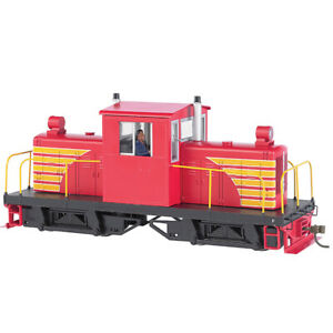 Bachmann 29204 Painted Unletterd Red w/Yellw Whitcomb 50-Ton DCC Locomotive On30