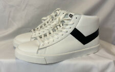 Pony Mens Sneaker Classic High Top Athletic Shoes White Black PP1CLLHI Sz 10.5
