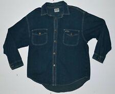 Vintage 90s Oversize Denim Long Sleeve Button Up Shirt Rusty Surfwear Size S