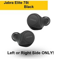 NEW Jabra Elite 75t BLACK Wireless Replacement Earbud LEFT or RIGHT Only!